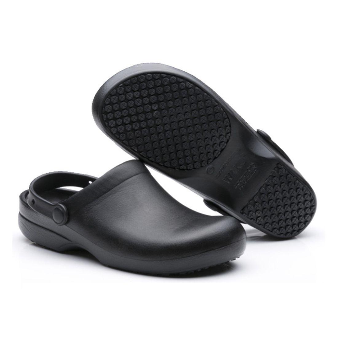 Men And Women Chef Clog Slip Resistant Restaurant Shoes Non Slip Work Shoes Black