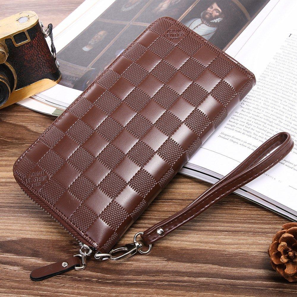 561736dc6c9e Men s Long Design Zipper Wallets Purses Card Holders High Quality ...