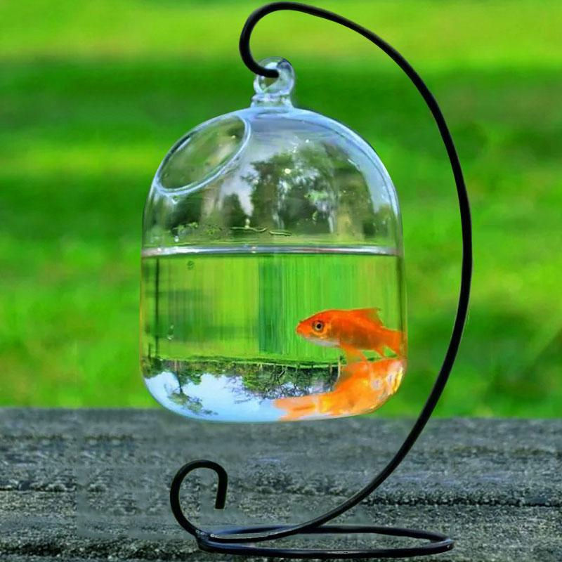 Glass Fishbowl Hydroponic Vase Hanging Vase Aquarium Glass Ornaments
