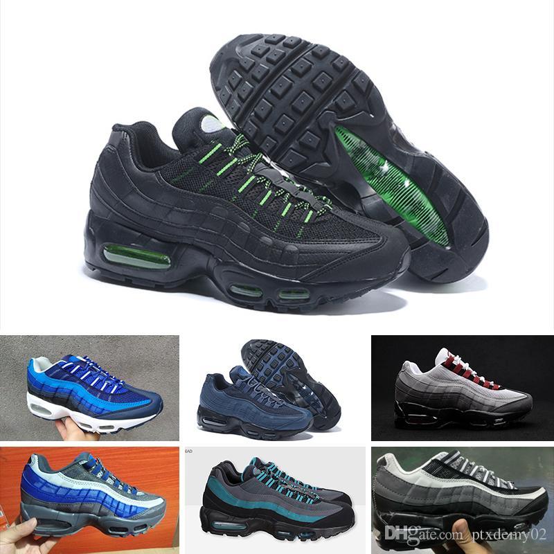 pretty nice 0f024 d6bbc Acquista 2018 Nike Air Max 95 Designer Shoes Air Cushion1 95 Tt Prm Scarpe  Da Corsa Uomo Donna Sport Sneakers 95s Og Athletic Walking Scarpe Da  Ginnastica ...