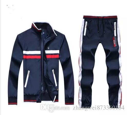 bcbd7db5bf420 Wholesale - Men&039;s Hoodies and Sweatshirts Sportswear Man Polo Jacket  pants Jogging Jogger Sets Turtleneck Sports Tracksuits Sweat Suits
