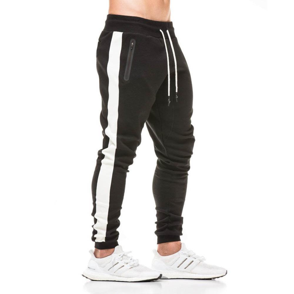 01d969c675 Acheter Running Gym Pantalon Jogging Hommes Coton Jogging Pantalon De Survêtement  Pantalon De Survêtement Culturisme Hommes Gymnases Marque Vêtements De ...