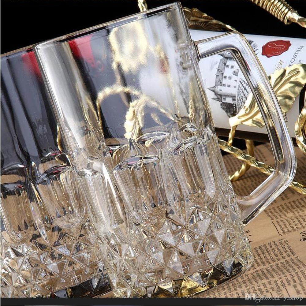 Wholesale Low Price Beer Glass Glasses Creative Big Capacity Juice Cup Good For Barbecue Beer Drinkware Wine Mug