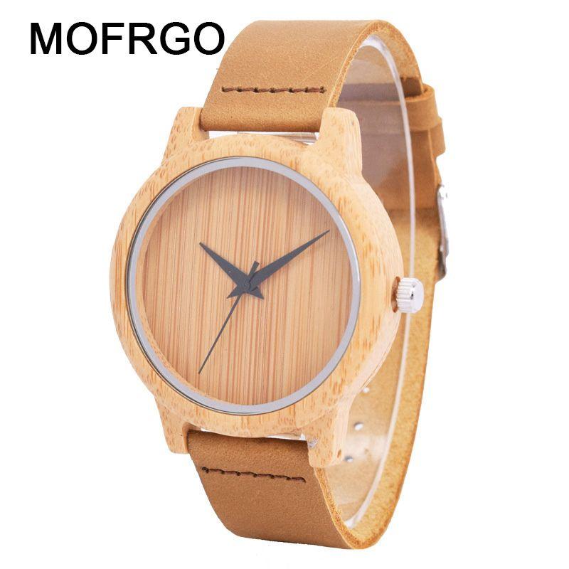 33420b76325f Compre Reloj De Madera De Bambú Reloj De Pulsera De Cuarzo De Señoras  Señoras Relojes De Madera Para Hombres Y Mujeres Reloj De Pulsera  Minimalista Mujer De ...