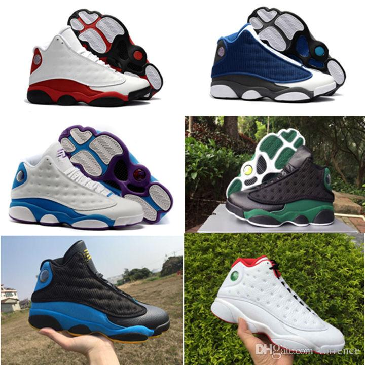 357449acfa1 2018 High Quality Shoes 13 XIII 13s Kids Basketball Shoes Bred Black ...