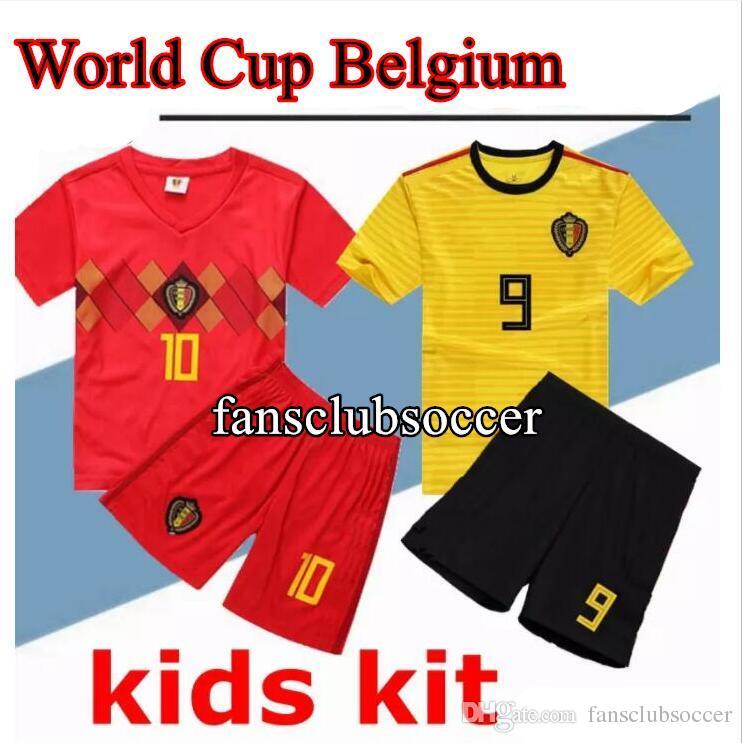 172cc536499 2019 2018 World Cup Belgium Soccer Jersey Kids Kit 18 19 Belgique Home AYAY  HAZARD Belgien Child Soccer Shirts Uniform Maillot De Foot From  Fansclubsoccer, ...