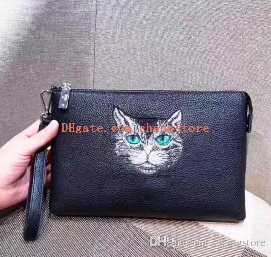 71105bbab0b6 ... Handbags Purses Designer Men Clutch Wallet Italy Top Leather Clutch Bag  6078 Zipper Black Square Animal Leather Bottega Wallet Pierre Cardin Wallet  From ...