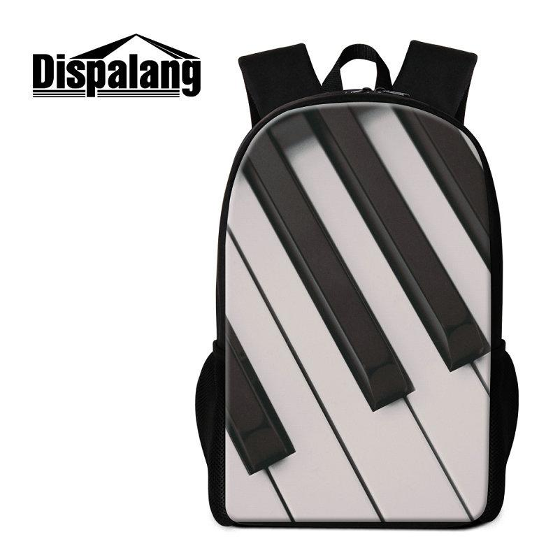 Women s Preppy School Bags Backpack For Girls Boys Musical Note Print  Bookbags For Children Piano Design Fashion Rucksack For Teens Mochilas Backpack  School ... 57517b3be9b70