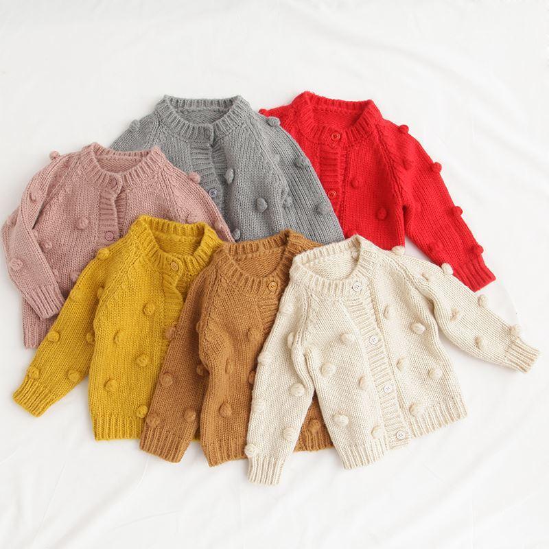 c633a72246de New Children S Wear Sweater Girl Baby Cotton Knit Cardigan Coat ...