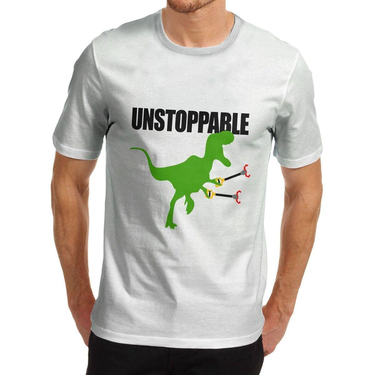 0f70217f Men'S Funny Unstoppable T Rex Dinosaur T Shirt Short Sleeves Cotton Fashion T  Shirt Comfortable Top Tee Buy Cool T Shirts Online Funny Offensive T Shirts  ...