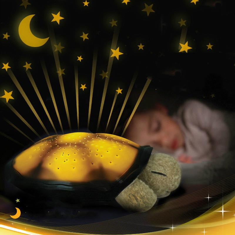 Resultado de imagen para Tortuga luz de noche LED noche Luna estrella proyector