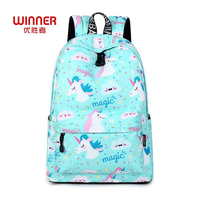 e0579f94a011 WINNER Women Backpack Unicorn Cute School Printing Backpack Bookbag School  Bags For Teenage Girls Mochila Travel Softback Y18110201 Drawstring Backpack  ...