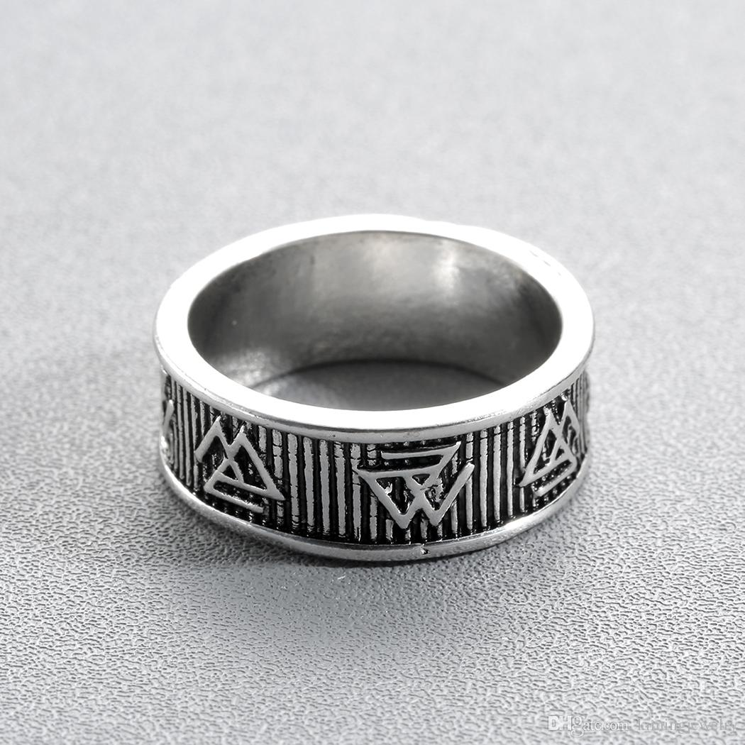 Hot Valknut Ring Viking Symbol Rings For Women Men Close Triangle Antique Silver Handmade Norse Jewelry Christmas Gift