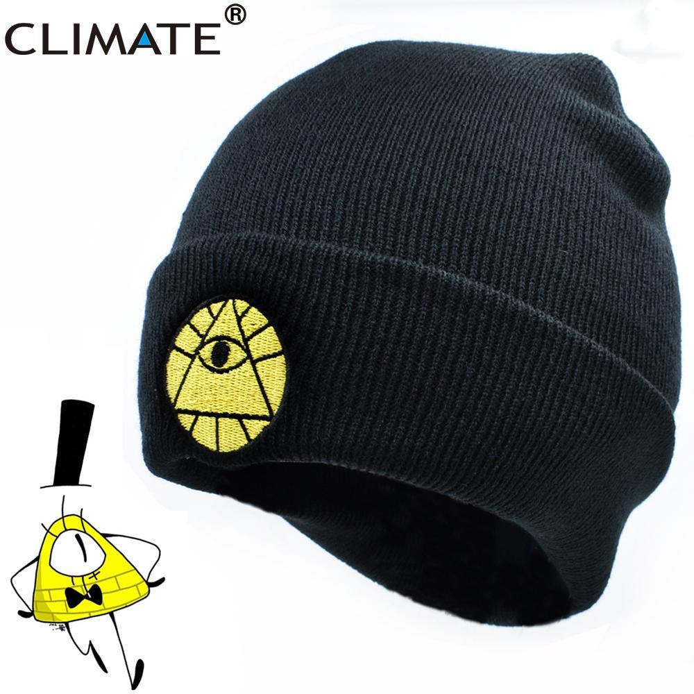 feea9b7f358 CLIMATE Gravity Falls Hat Caps Bill Dipper Mabel Beanie Winter Warm Knit  Beanie Hat Boy Bill Black Cool Men Acrylic Knit Hat S926 Slouchy Beanie  Skull Cap ...