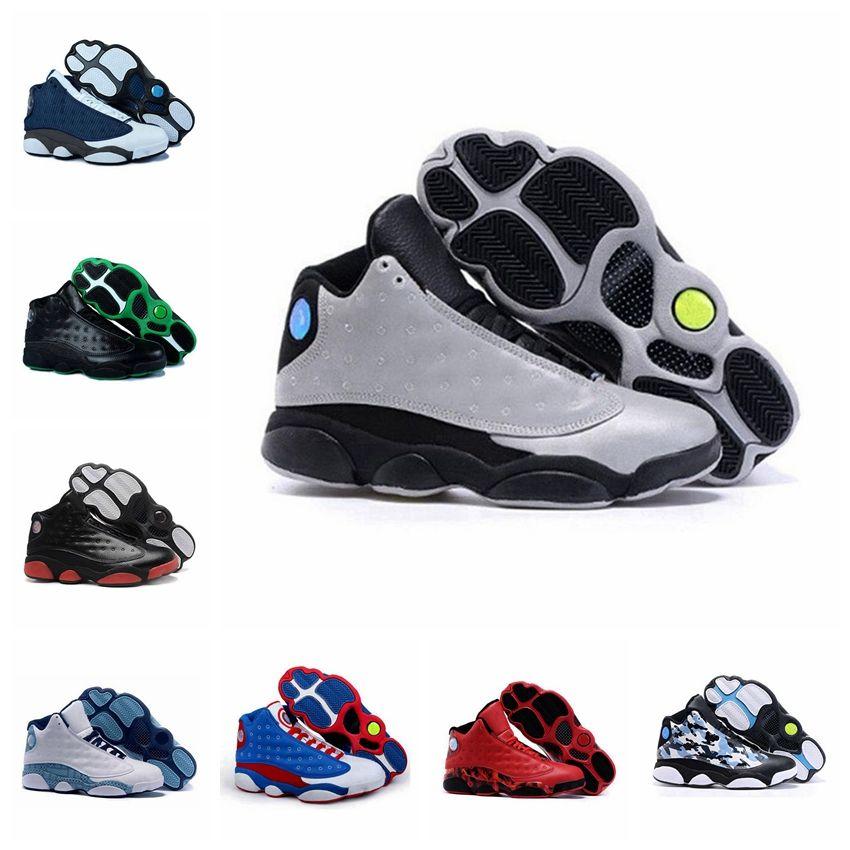 official photos 7898d 6f5bd Acheter Nike Air Jordan 13 Xiii Retro Chaussures De Basket Ball En Gros  Discount Running Sneakers Cyclisme Soccer Chaussures Femmes Hommes Pas Cher  Sport ...