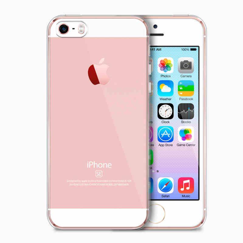 ec428413d01 Todo Fundas 2018 Esamday Ultra Thin TPU Funda Transparente Original Para  Apple IPhone SE 5S 5 Crystal Clear Funda De Silicona Para Teléfono Carcasas  De ...