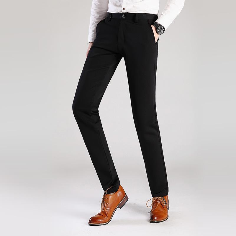 ad6b4d5f4c2 2019 2017 Men Dress Pants Plus Size Formal Pants Slim Fit Wedding Men Black  Suit Business Casual Mens Dress Trousers From Clothwelldone