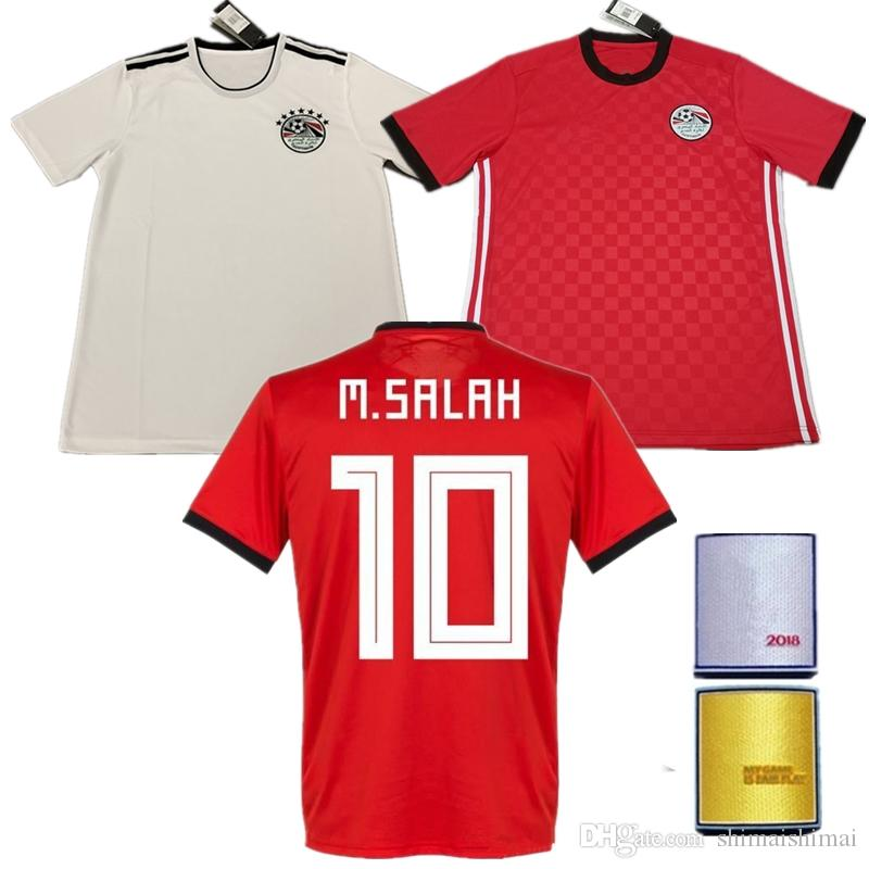 3e990344c ... czech 2018 new white red egypt soccer jersey world cup 2018 m. salah  kahraba a