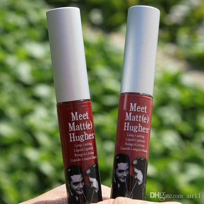 Maquiagem Matte Lip Gloss Conheça Matt e Hughes Líquido de Longa Duração Batom Sexy Red Marca Não Vara Copo Lábios Vara 8 Cores