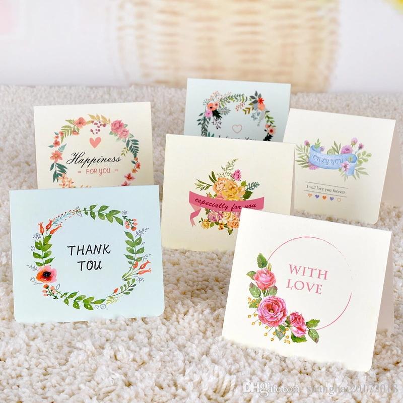 1 Pc Mignon Carte De Voeux Avec Enveloppe Fleur Saint Valentin Invitations De Mariage De Fête Carte D Anniversaire Merci Pour Les Amoureux De La