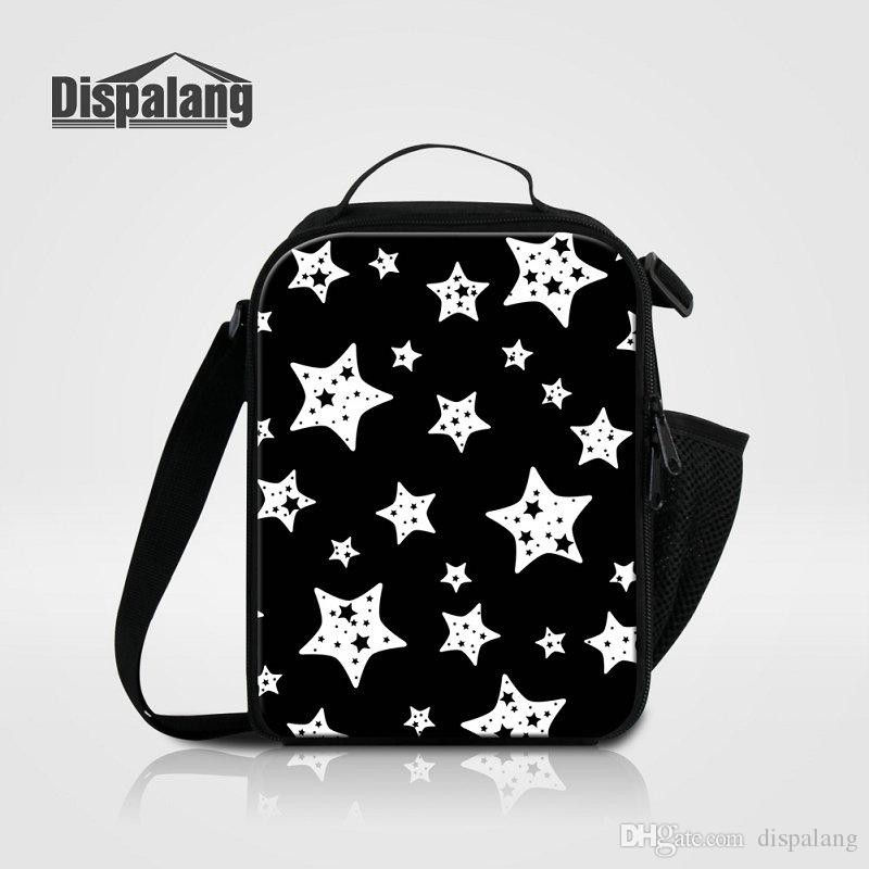 8d1f3f637079 Children School Lunchbox Thermal Insulated Lunch Bags For Women Girls  Lovely Black Stars Boys Insulation Lunch Box Picnic Food Bolsa Termica