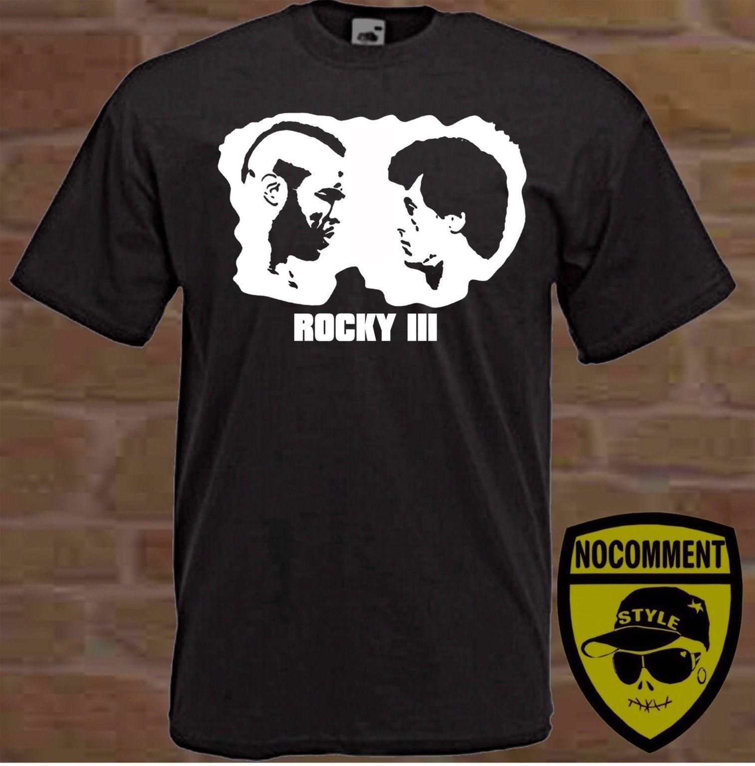 l'ultimo 3e804 c0b41 T-shirt personalizzate ROCKY III film Sly Stallone taglie S M L XL XXL XXXL