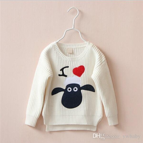 Christmas Red Kids Clothing Knitted Sheep Pullover Autumn Winter