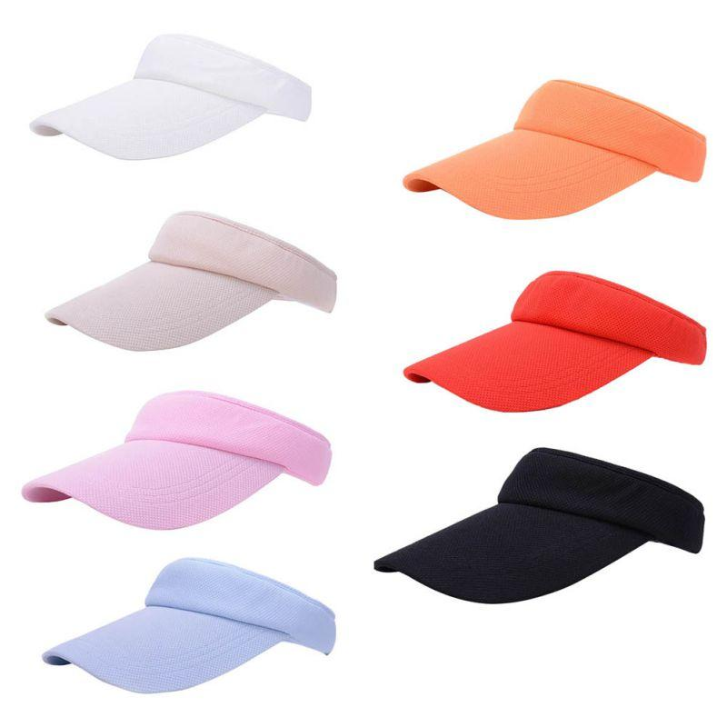 75c31329e51 Tennis Caps Unisex Summer Golf Tennis Hats Women Men Sports Wide Brim Beach Visor  Sun Hat Caps Hot UK 2019 From Superfeel