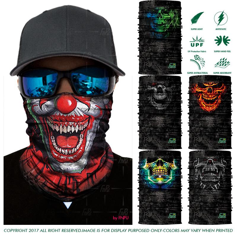 EXPRESS SHIPPING 3D Skull Bandana Scarf Joker Human Skeleton Seamless  Scarves Death Unisex Outdoors Bandana Headwear 100PCS/LOT