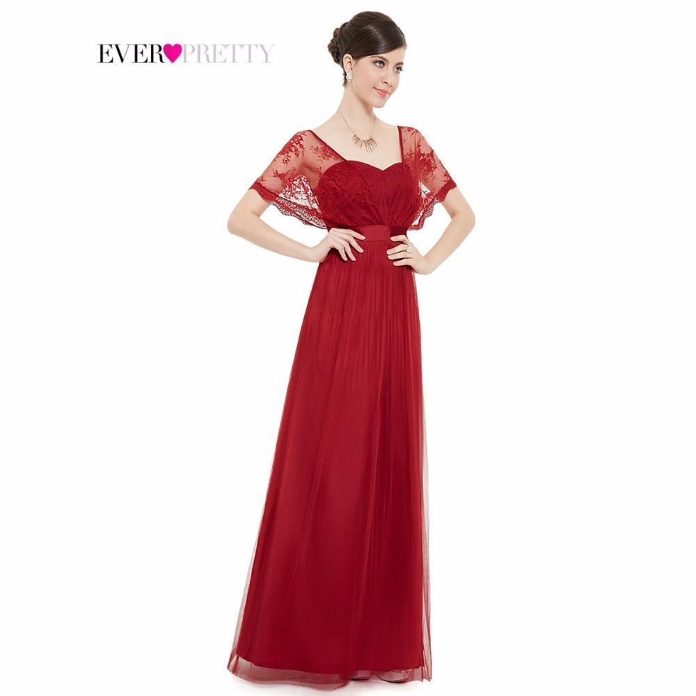 e0a591d65a7c [Liquidación] Vestidos de baile 2017 Elegante Borgoña Encajes Wraps gasa  largo rojo vestidos de fiesta HE08450RD Vestidos para ocasiones especiales  ...