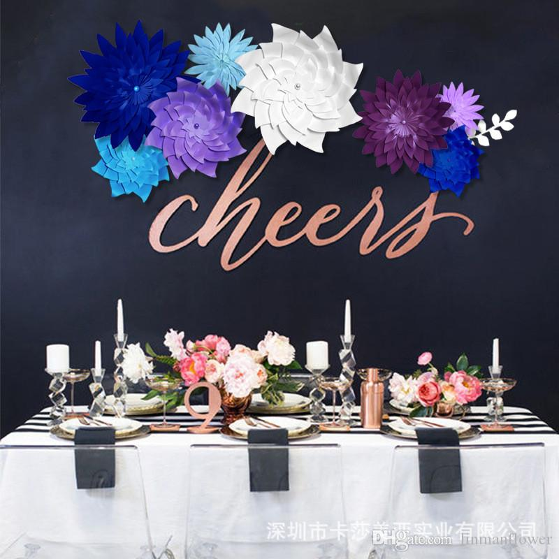 2019 LINMAN 50CM DIY Stereoscopic Paper Flowers Backdrop Decorative Artificial Wedding Favors Birthday Party Home Decoration From Linmanflower
