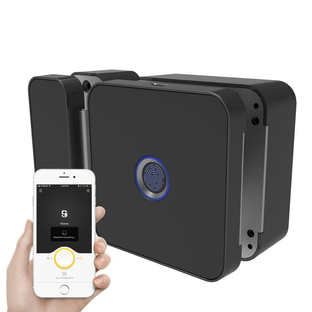 Fingerprint / Password Smart Lock For Office Glass Door Electric  Integration Lock Work To Bluetooth APP Remote Control