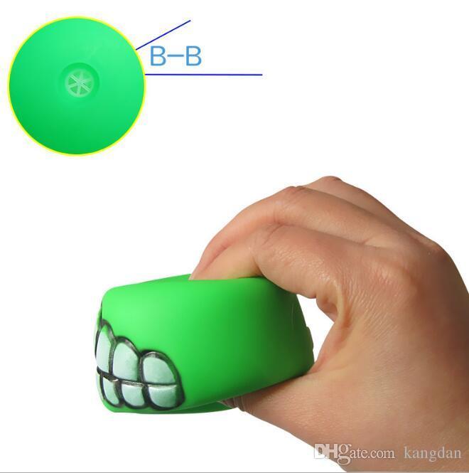 Pet Yavru Köpek Komik Dişler Topu Çiğnemek Ses Köpekler oyuncak Oynamak Evcil Köpek Yavru Top Diş Silikon ses Oyuncak