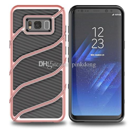 Hybrid Armor Carbon fiber rubber rugged shockproof case cover skin for Samsung Galaxy J5 Prime On5 2016 J7 Prime On7 2016