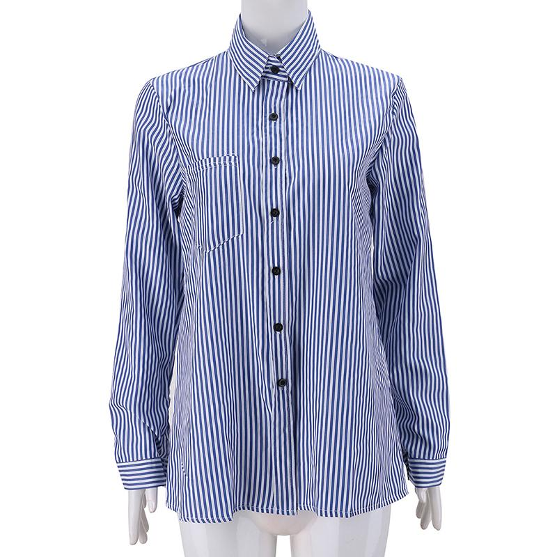 f63553afce1 Summer Casual Women Blouse Women Tops Long Sleeve Turn Down Collar Work  Wear Shirts Elegant Lady Blouses Casual Striped Blusas Online with   29.28 Piece on ...