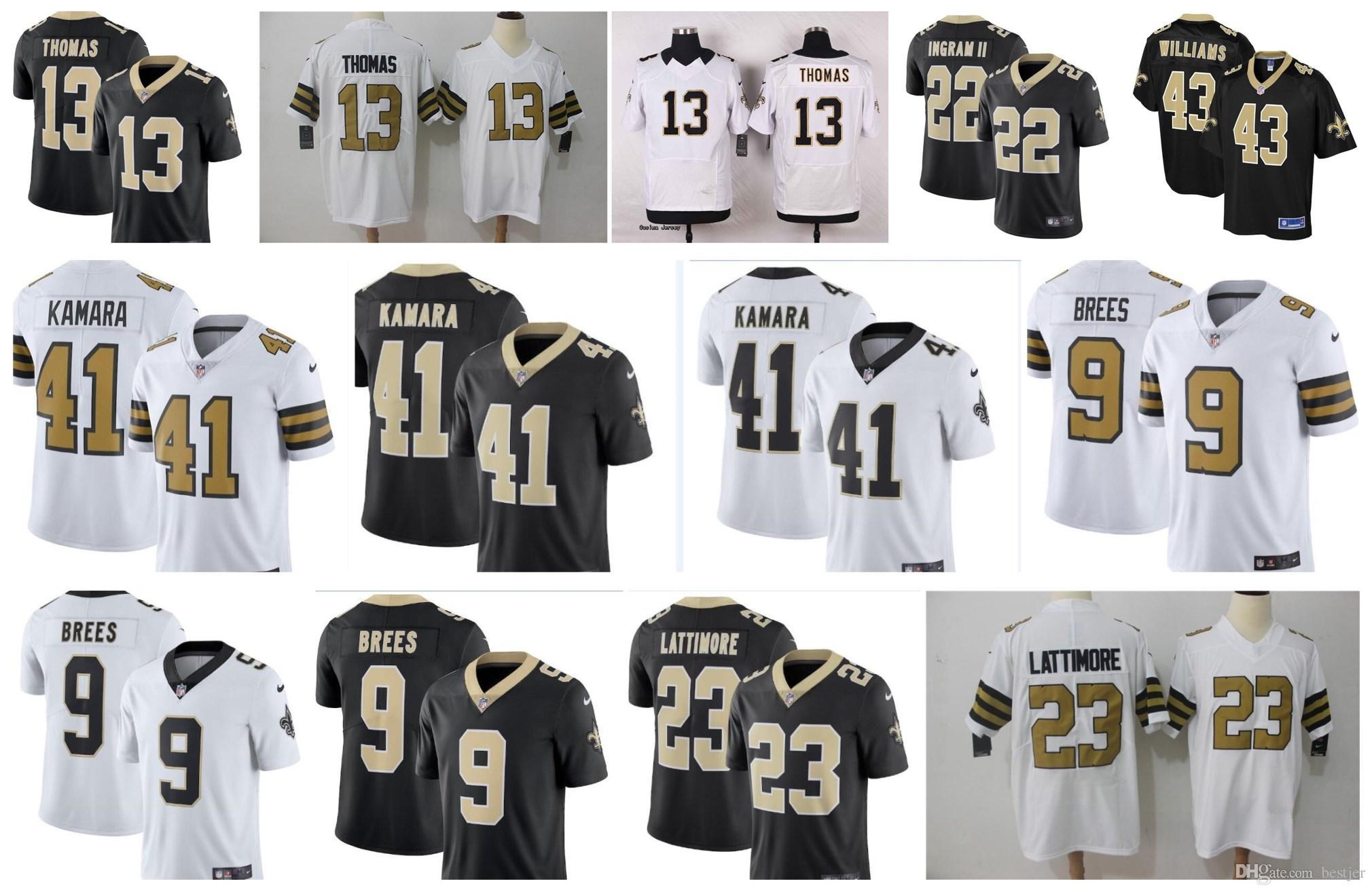 2018 Men 41 Alvin Kamara New Orleans 9 Drew Brees Jersey Mens Saints 23  Marshon Lattimore 13 Michael Thomas Women Youth American Football Jerseys  From ... 2c219731e