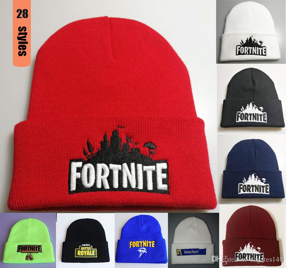 199345257fa Fortnite Men Women 28 Style Rap Street Hip Hop CC Caps Knit Wool Thick  Fashion Popular Beanie Hats Cap Hat Cute Beanies From Dhgates148