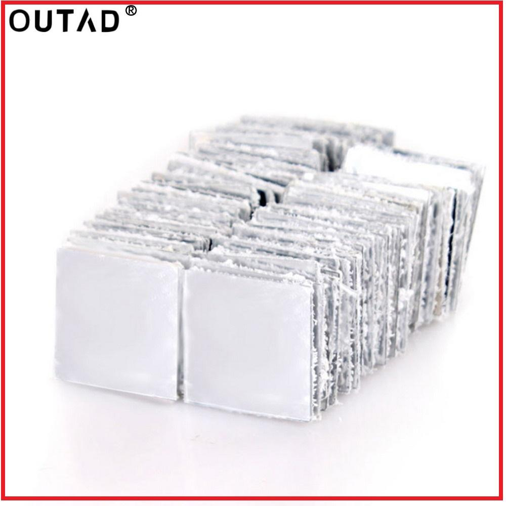 OUTAD new 100 Pieces Mirror Tile Popular DIY Wall Sticker 3D Decal Mosaic House Home Room Decoration Stick For Modern Rooms