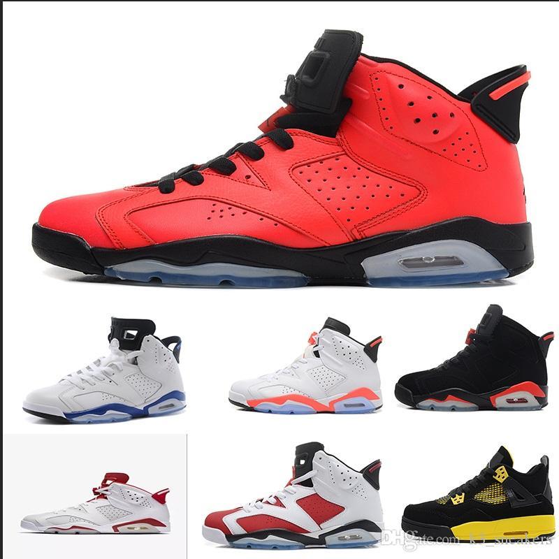 best cheap 50466 c0928 Großhandel 2018 Versandkostenfrei Nike Air Jordan 6 Retro Sneakers Designer Shoes  6s Kastanienbraun Schwarz Rot Infrarot Seahawks Chrom Oreo Basketball ...
