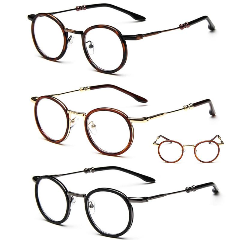9e67a977d1b 2019 Vintage Oval Round Metal Eyeglass Frames Full Rim Unisex Retro Glasses  Eyewear Rx Able Come With Clear Lenses From Shuidianba