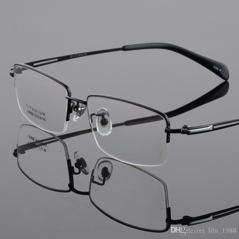 7b592a7ca7c5 Men Eyeglass Frames Titanium Half Rimless Spectacle Frames LB 8906 Black  Gray Gold Silver Eyeglass Frame Sizing Eyeglass Frames Discount From  Lilu 1988