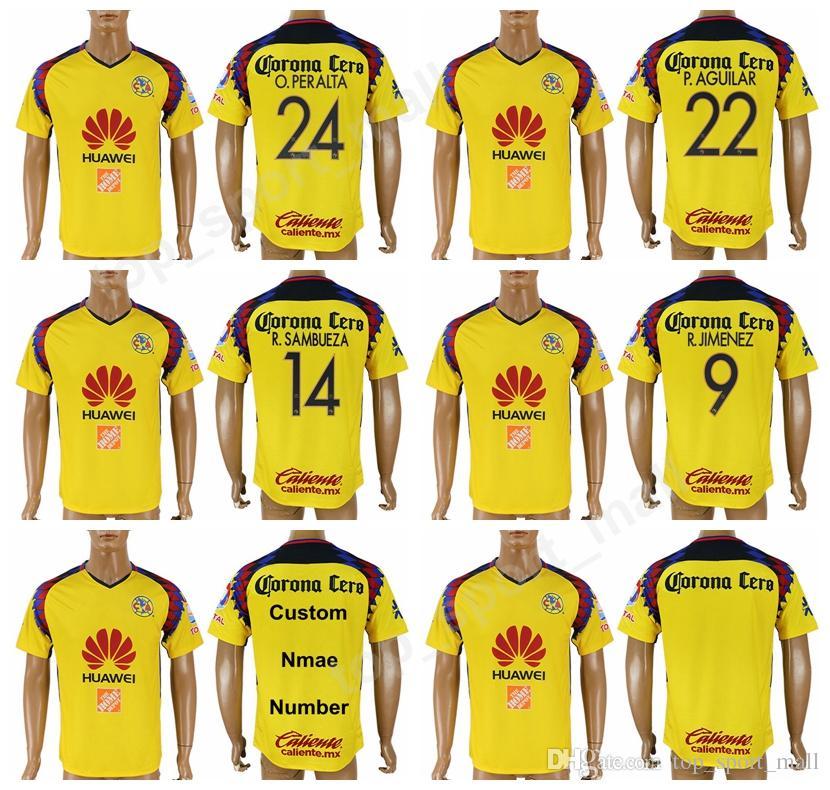 82cb961391b ... australia 2019 liga mx mexico 2018 2019 soccer club america jersey men  thai custom 24 peralta