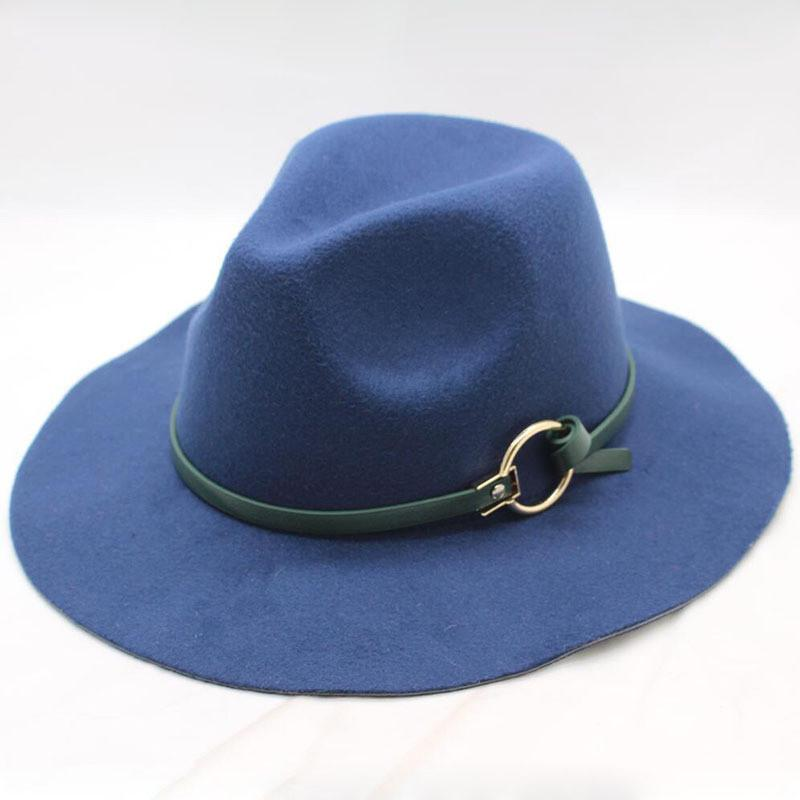 Compre Nueva Mujer De Lana Para Hombre Kentucky Derby Sombreros Caballero  Clásico De Ala Ancha Sombrero Fedora Para Tapa De Jazz Cloche Flojo A  3.92  Del ... 5c8bb7c9200
