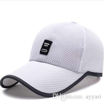 06d516caaa51e Summer Breathable Mesh Baseball Cap Quick Drying Hats For Men Blue ...