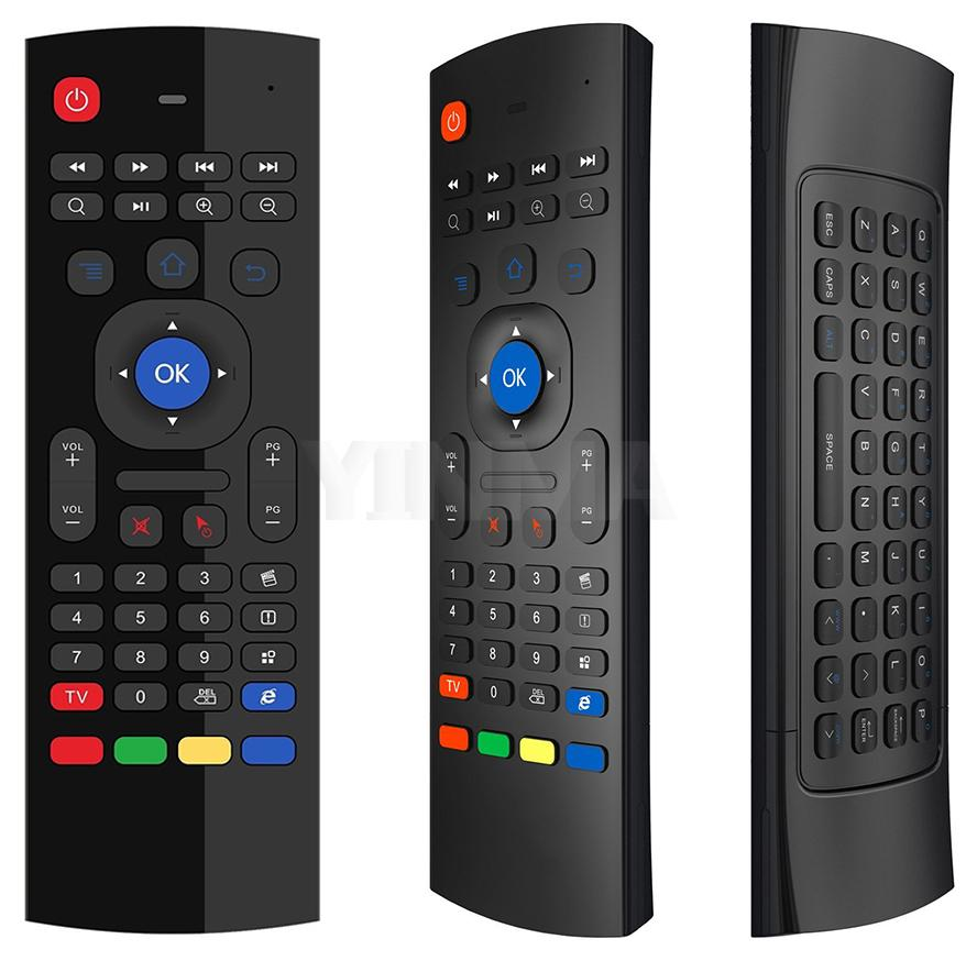 MX3 Pro Mic Voice Air Mouse 6-Axis Somatosensory Multifunctional 2.4G Mini Backlit Wireless Keyboard Infrared Remote Control Learning
