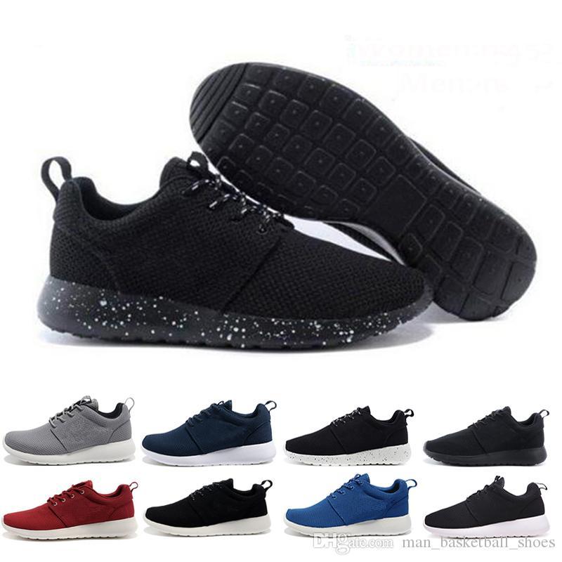 nike air roshe run one Date London Olympic désigné chaussures de course femmes et hommes noir blanc respirant chaussures de sport formateur Runner