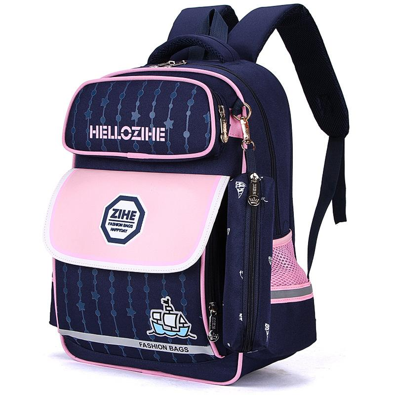 e246a05b5143 2018 New High School Backpack Covered Children S Nylon Letter Cartoon Print  Logo Custom Waterproof Satchel Kids Book Bag Travel Backpack Cute Backpacks  From ...