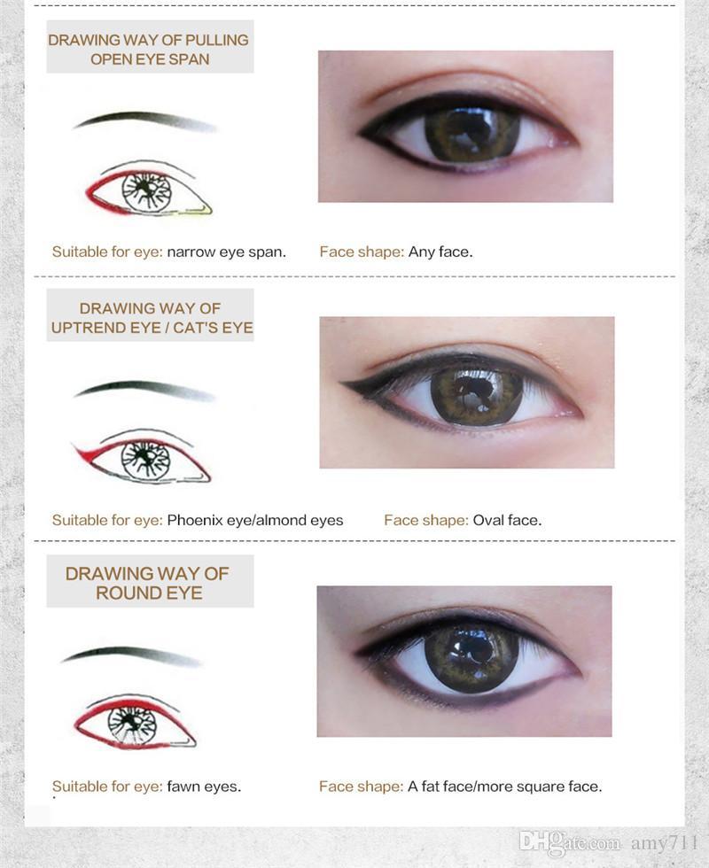 New China Brand HUAMIANLI Eyeliner Pencil Black Dark Brown waterproof Thickness Control Eye liner High quality DHL shipping