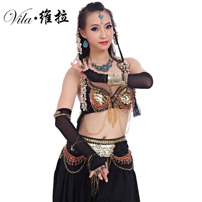 2019 Women Tribal Belly Dance Wear Outfit Set Antique Bronze Beads Bra Belt  Skirts Gypsy Dance Costumes From Viladancing 21d6ca667c74