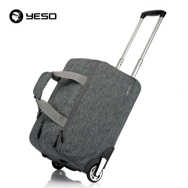 d916ee8b84 YESO Trolley Travel Bag Hand Luggage 20 Inch 32L Rolling Duffle Bags  Waterproof Oxford Suitcase Wheels Carry On Luggage Unisex Duffle Bags For  Women Wheeled ...